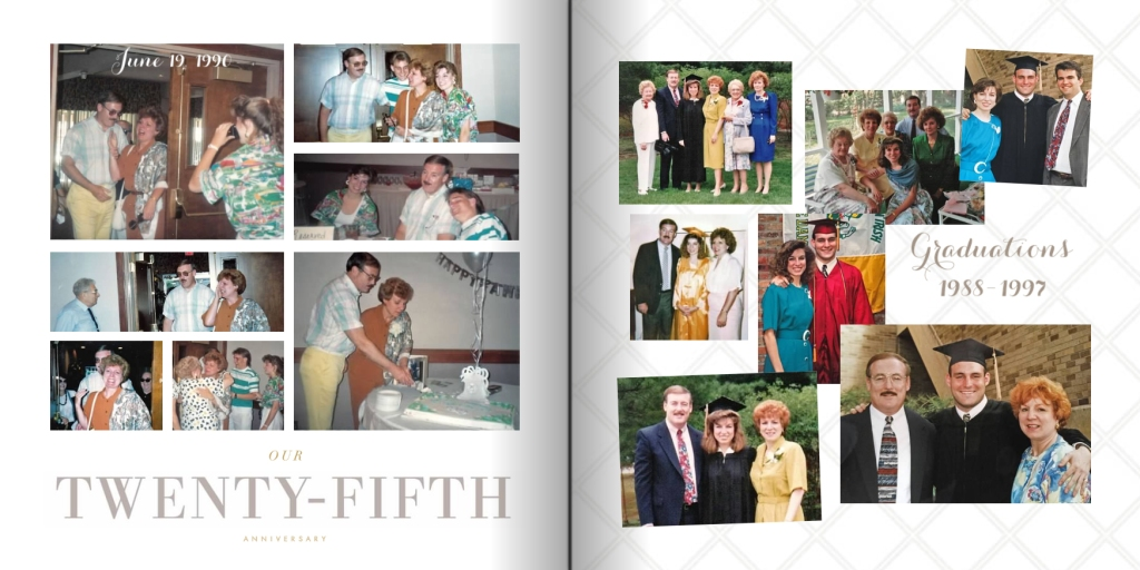 50th Wedding Anniversary Photo Book Pages 22-23