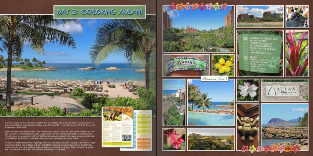Vacation Photo Book Pages 4-5